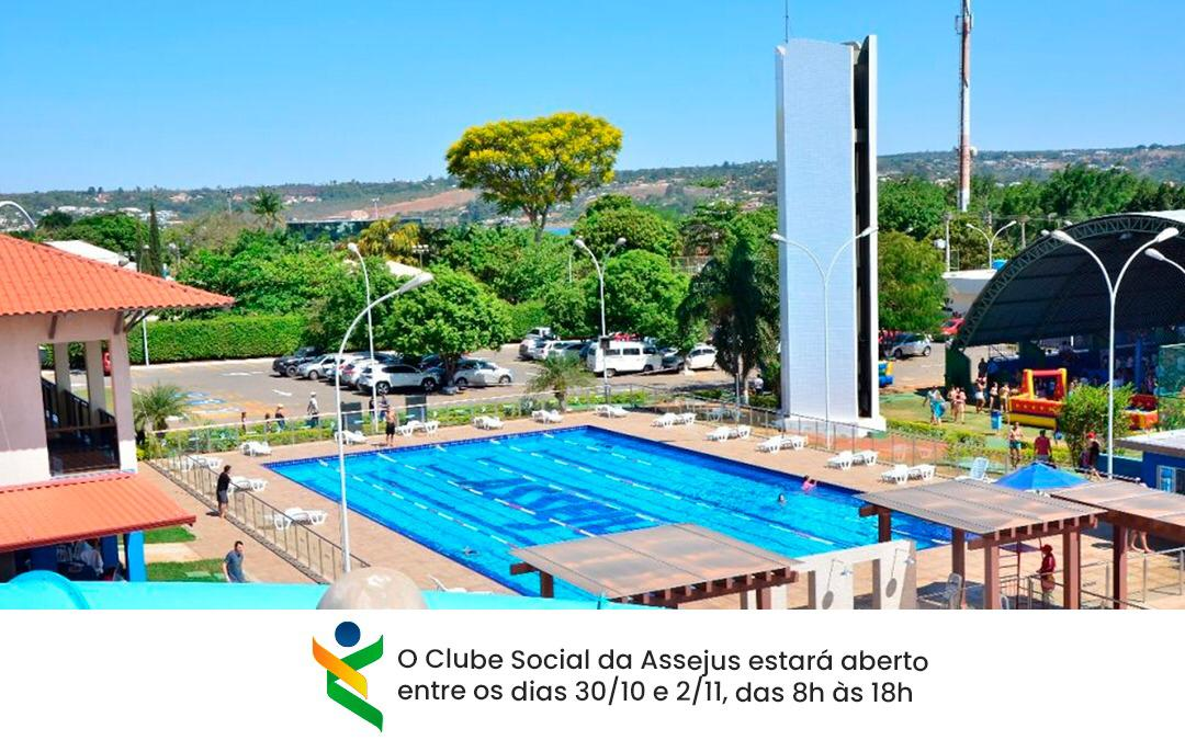 Clube Social funcionará de sexta à segunda-feira, em razão do feriado