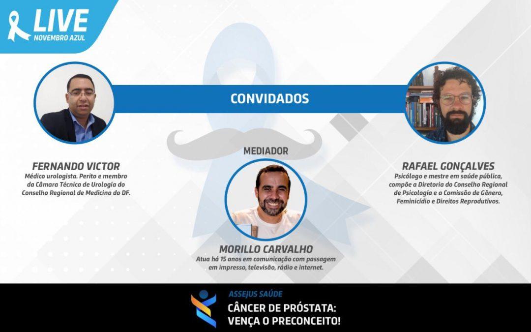 Novembro Azul: Assejus promoverá live sobre prevenção e tratamento do câncer de próstata, na próxima sexta (27/11)