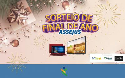 Chegou o dia do grande sorteio de fim de ano da Assejus. É hoje (30), a partir das 17h!